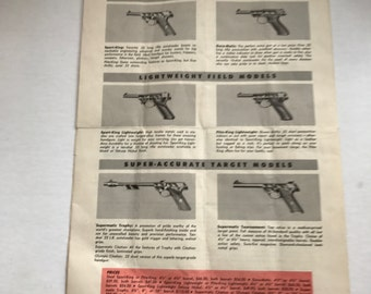 Vintage Gun Memorabilia Hi-Standard Revolver Parts and Price List