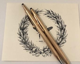 ON SALE!! Two Vintage Cross Gold Filled Pens