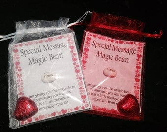 Valentine Special Message Magic Bean -I Love You