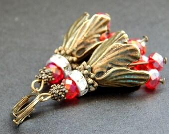 """Earrings """"Red tulips"""""""