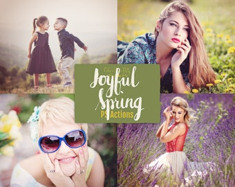 75% OFF! - Joyful Spring {28 Photoshop Actions for CS5, CS6 & CC}