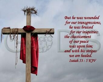Isaiah 53 5 Etsy