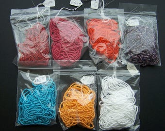 Seed Beads Size 110 Beading Strands Assorted Colors Nice Lot