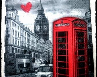 1 Single Decoupage paper Napkins,London,Big Ben,Tissue Paper Napkins for Decoupage,Mix Media,party napkins,Serviettes,Arts paper