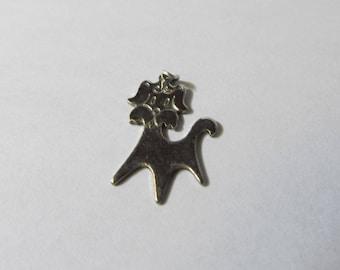 Vintage Sterling Silver Dog Charm W #642