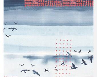 WANDERLUST by Monaluna - Sky - Organic Cotton LAWN (0.25m)