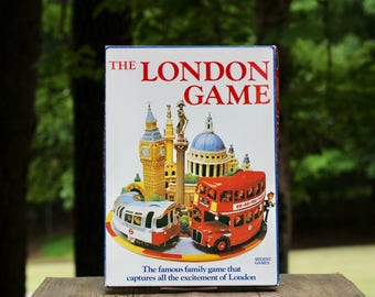 Vintage 1972 The London Game Board Game / London Board Game / London Underground Map / London Tube Map / London Trivia Game / London Gift