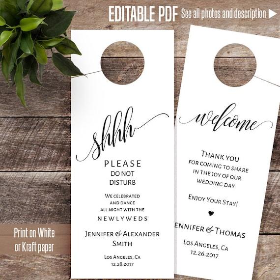 wedding door hanger do not disturb sign wedding template. Black Bedroom Furniture Sets. Home Design Ideas