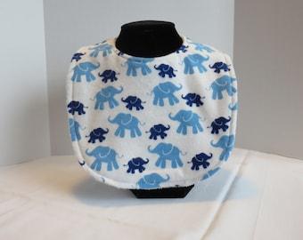 Baby Bib - Elephant Navy - David Textiles