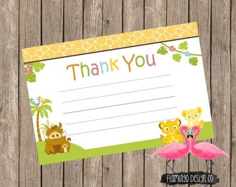 Lion King Inspired  Thank You Card