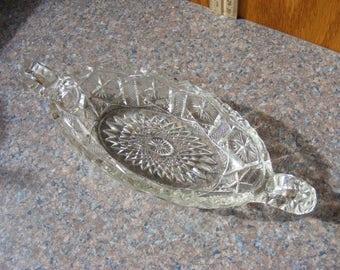 """Vintage Imperial Glass, """"Mogul Variant"""" Pickle/ Relish/ Celery Dish, Vtg Glass Serving Dish, Vtg Glass"""