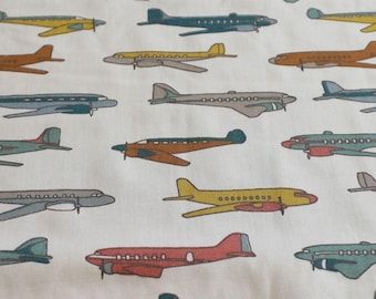 Airplane Nursery - Organic Baby Bedding - Plane Baby Bedding - Travel Crib Sheet - Gender Neutral Baby - Plane Nursery - Birch Fabric Planes
