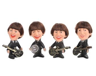 The Beatles set of 4 original 1964 Remco dolls