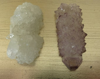 Crystal Amethyst Stalactite Tip Pendents //Drilled Stalactite Tips // Stalactite Pendent