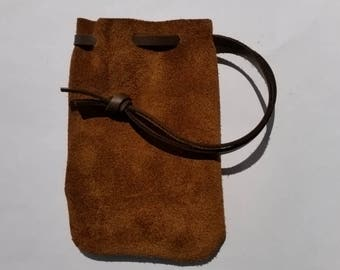 Leather Drawstring Pouch