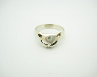 Sterling Silver Cat Ring Size 6