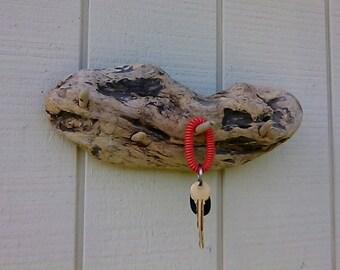 Wood Key Hook Driftwood Wall Key Rack Rustic Key Hook