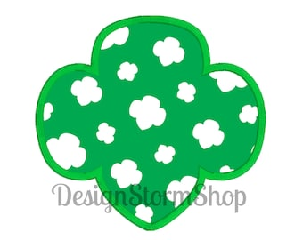 Girl Scout Applique Trefoil Design/Machine Embroidery Frame/Instant Download File/4 sizes!