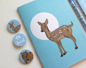 Deer Journal - Blank A5 Notebooks - Journal