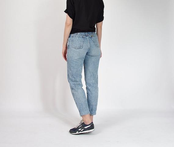 SALE - 80s POP84 Acid Wash Denim Mom Jeans / Size 29-30