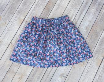 Toddler skirt, baby girl skirt, infant skirt, floral skirt, girls summer clothing, rifle paper co