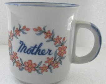 Original Mother Flower Power Collectible Ceramic Cup Made In Korea