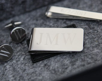 Money Clips For Men, Monogrammed Money Clip, Unique Groom Gift, Personalized Groomsmen Gift, Money Clip With Monogram