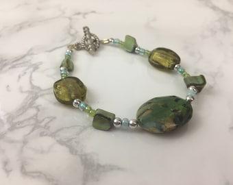 Earth Tone Beaded Bracelet