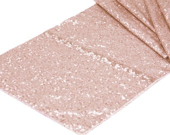 Blush Glitz Sequin Table Runner