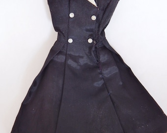 """Barbie """"After Five"""" Black Dress With White Organdy Neck #934 1962-64"""