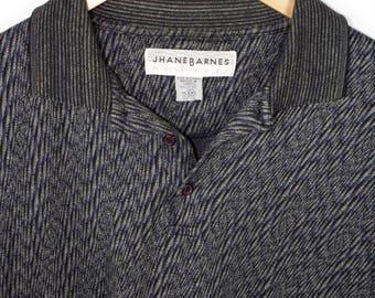 JHANE BARNES coogi style polo shirt - vintage - boxy - mens