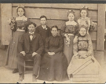 Antique  Photograph The Big Day Wedding Photo