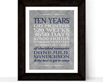 10th anniversary gift for him her, custom gift for men women, first we had each other, tin 10 year wedding anniversary gift for husband wife