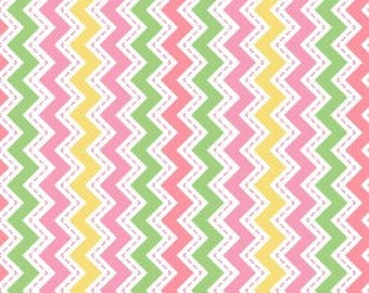 Little One Flannel Too- Pink Zig Zag, Fabric by the Yard