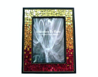 5x7 picture frame glitter glass picture frame red picture frame copper picture frame gold picture frame orange frame ombre frame