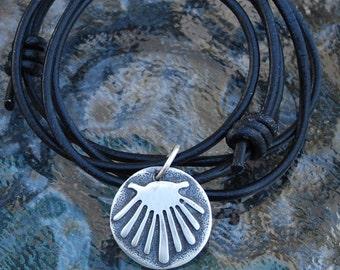 Sterling Silver Camino Shell Pendant (Petite)