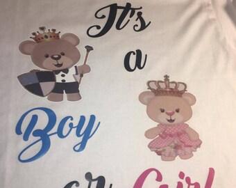 Boy or Girl T-shirt Set of 2