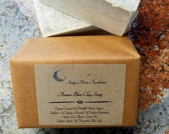 Australian Washed Blue Clay Soap, Vegan Soap, All Natural Soap, Fragrance Free Soap, Luxury Soap, Mineral Soap, Detox Soap, Facial Soap