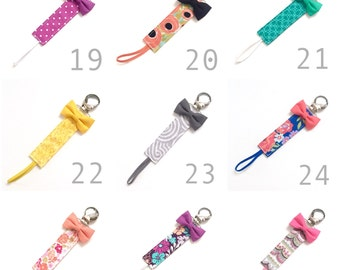 Choose 3 or more! - Pacifier Clips- Binky Clips - Short Clips