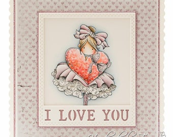 OOAK I love you card