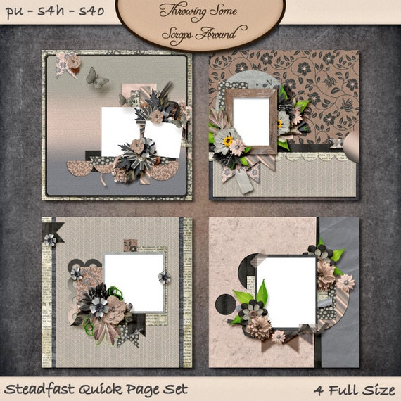 Digital Scrapbook, Quick Pages: Steadfast
