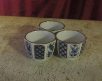 Set of Three Asian Tea Cups