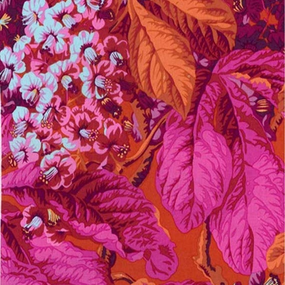 HORSE CHESTNUT RED PWPJ084 Philip Jacobs  Kaffe Fassett Collection Sold in 1/2 yard increments