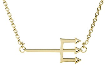 Trident Sorority Necklace / Delta Delta Delta Sorority Necklace / Tri Delta Trident Necklace / Big Little Gift / Delta Trident