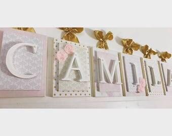 Wooden Letters Nursery Decor Nursery Name by LoveyLettersbyLeah