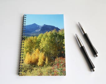 Mountain notebook, Blank Paper Notebook, Personalized journal, Sketch book, Hiking log, Western gift, Southwest journal, Colorado notebook