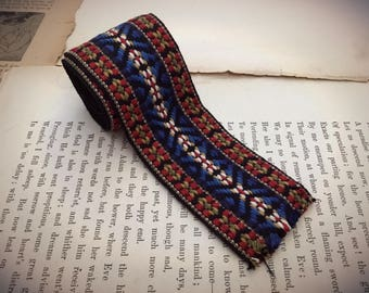 """Vintage Tribal Ethnic Embroidery Textile Trim Length 40"""" Vintage Camera Strapping"""