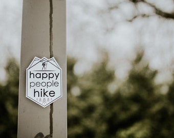 Happy Hiker Classic Sticker