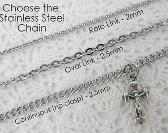 Stainless Steel Necklace Chain - Choose Style and Length