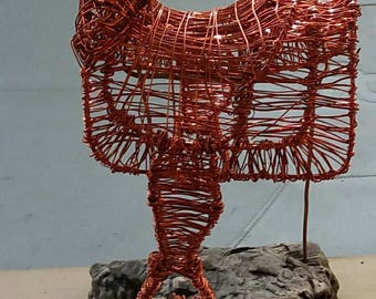 3-D Wire Sculpture Western Saddle